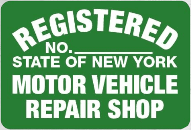 Official State of New York Motor Vehicle Repair Shop